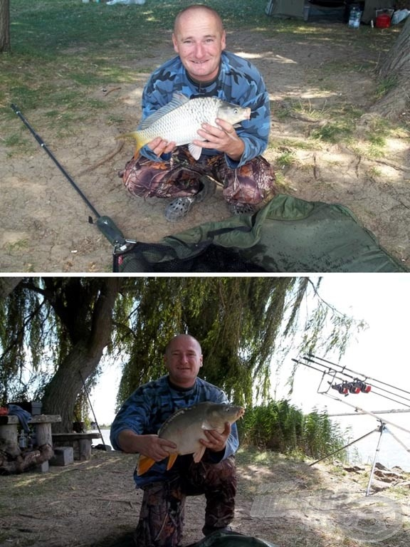 Boci főzés közben halat is tud fogni