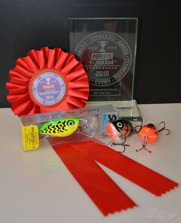 Nem mellékesen az első Pergető Parádén a legjobb új wobbler díját is elnyerte
