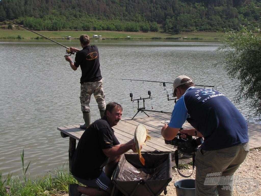 Mozgalmas hajrá a Ke-Na Carp Team horgászállásán