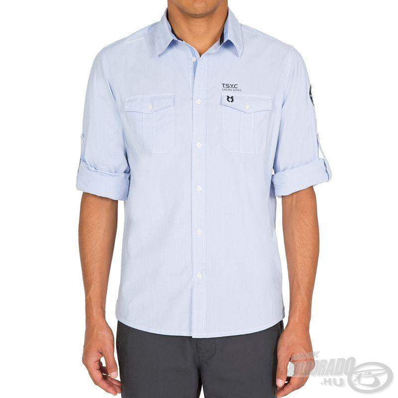 Ezzel az apró módosítással nyáriasabb, rövid ujjú ingként is használható