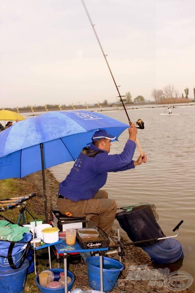 A pontos horgászatot az ernyő nagyon megnehezítette