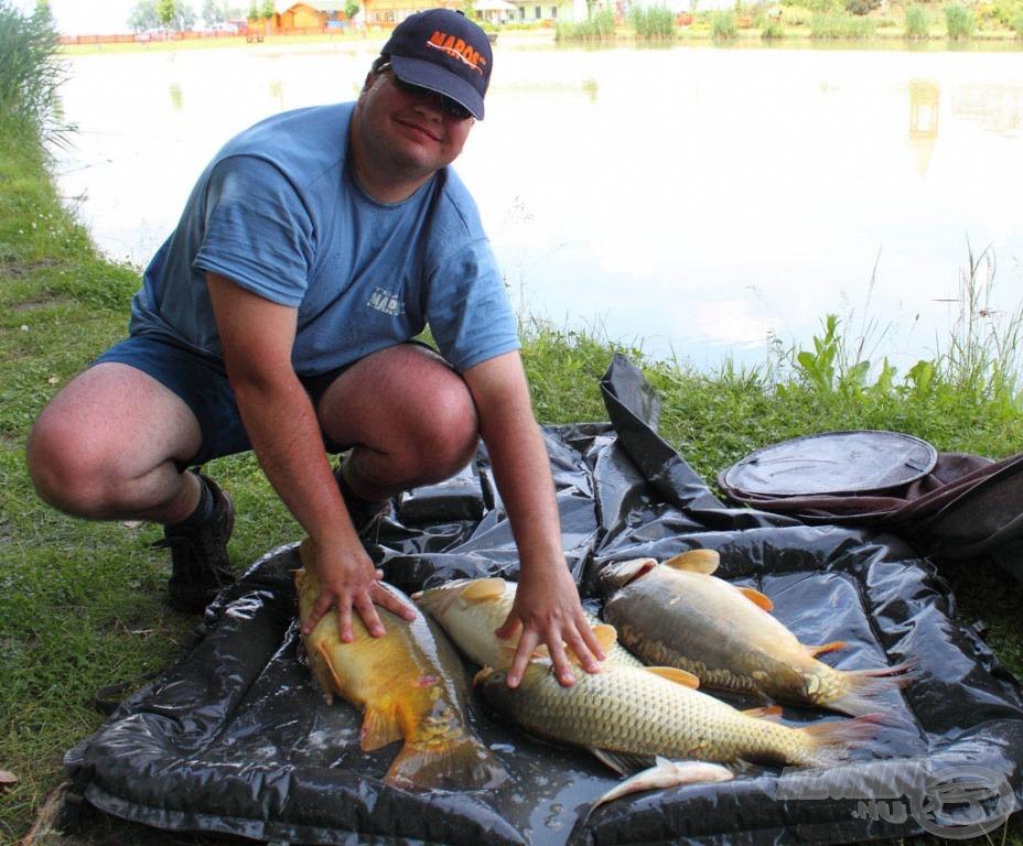 Tóth Zsolt fogása 18.830 gramm volt, amihez hozzájött még a verseny legnagyobb hala, 11.530 gramm tömeggel