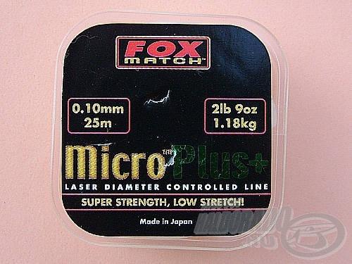 Szerelékünk főzsinórjaként 0,10 mm-es damilt használjunk