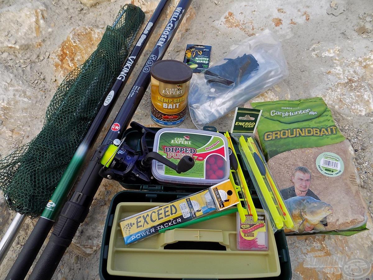 Az Energofish szettje olyan eszközöket tartalmaz, melyekre egy kiadós és változatos horgászat során lehet szükség