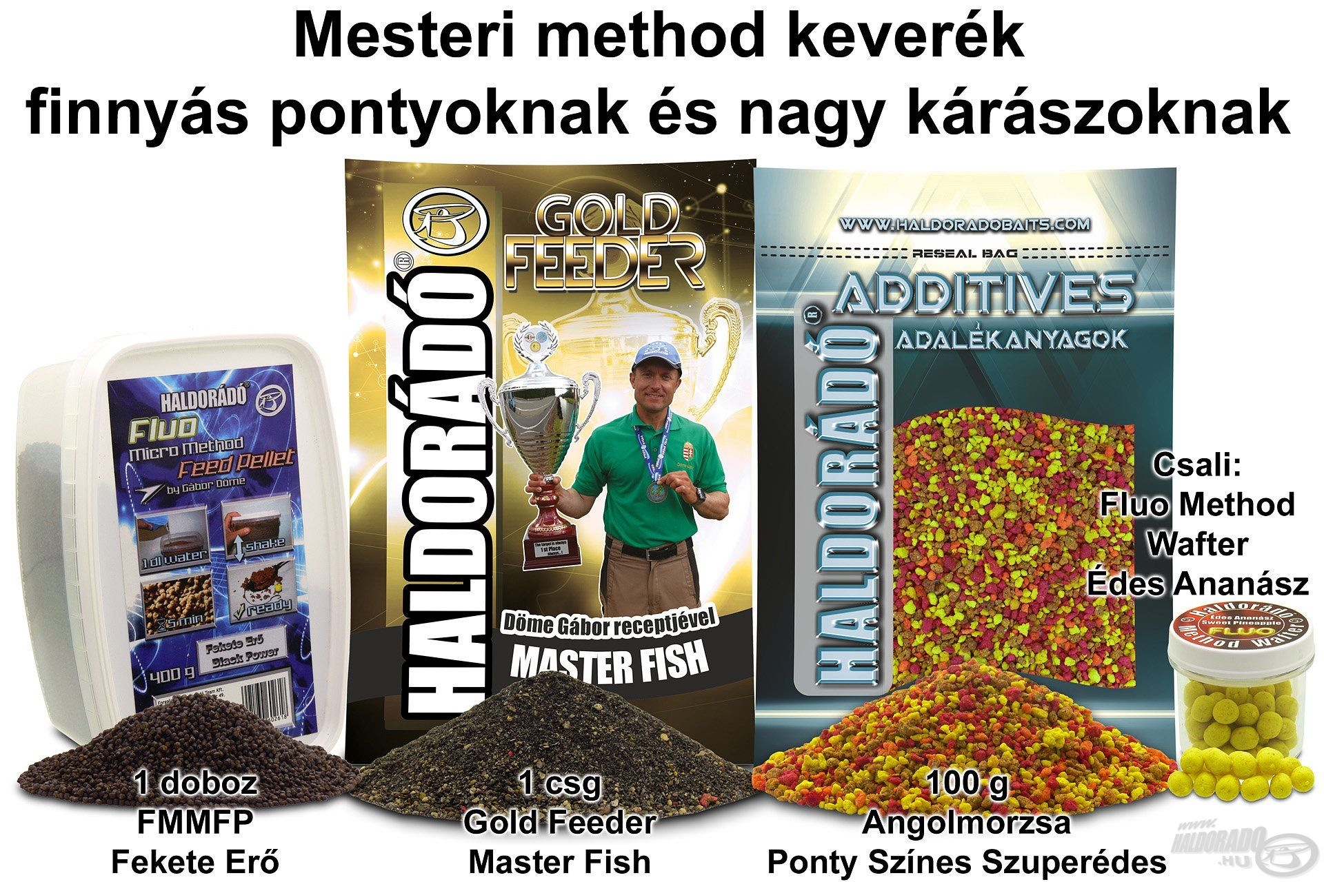 Mesteri method keverék finnyás pontyoknak és nagy kárászoknak