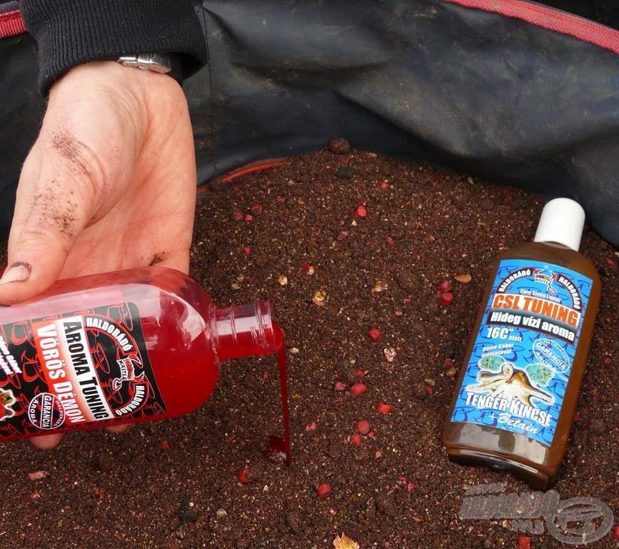 A halas keverékhez 1 flakon CSL Tuning Tenger Kincse aroma mellett 50 ml Vörös Démon is került