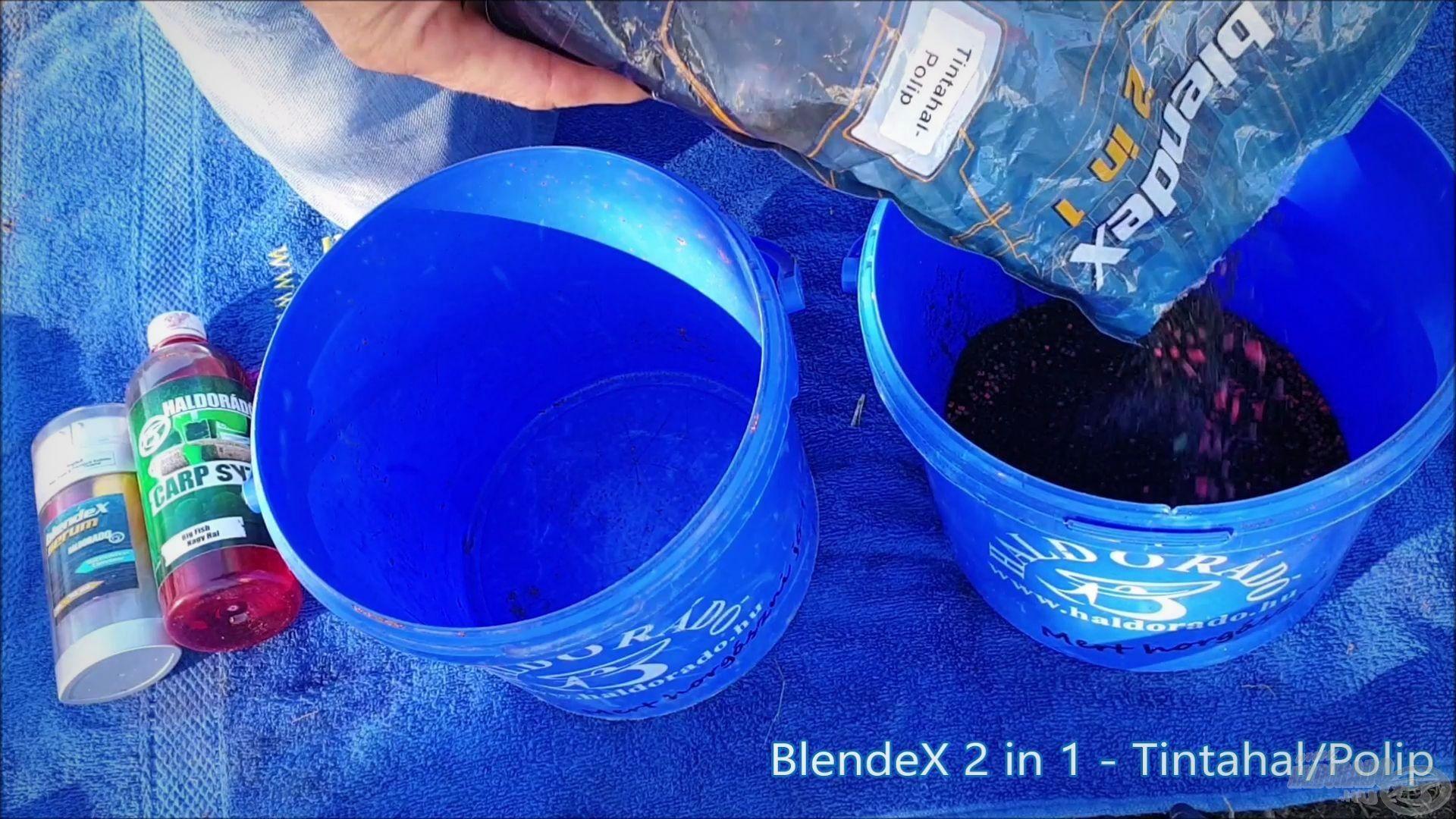 Etetőanyagként a BlendeX 2 in 1 - Tintahal/Polip változatot használtam…