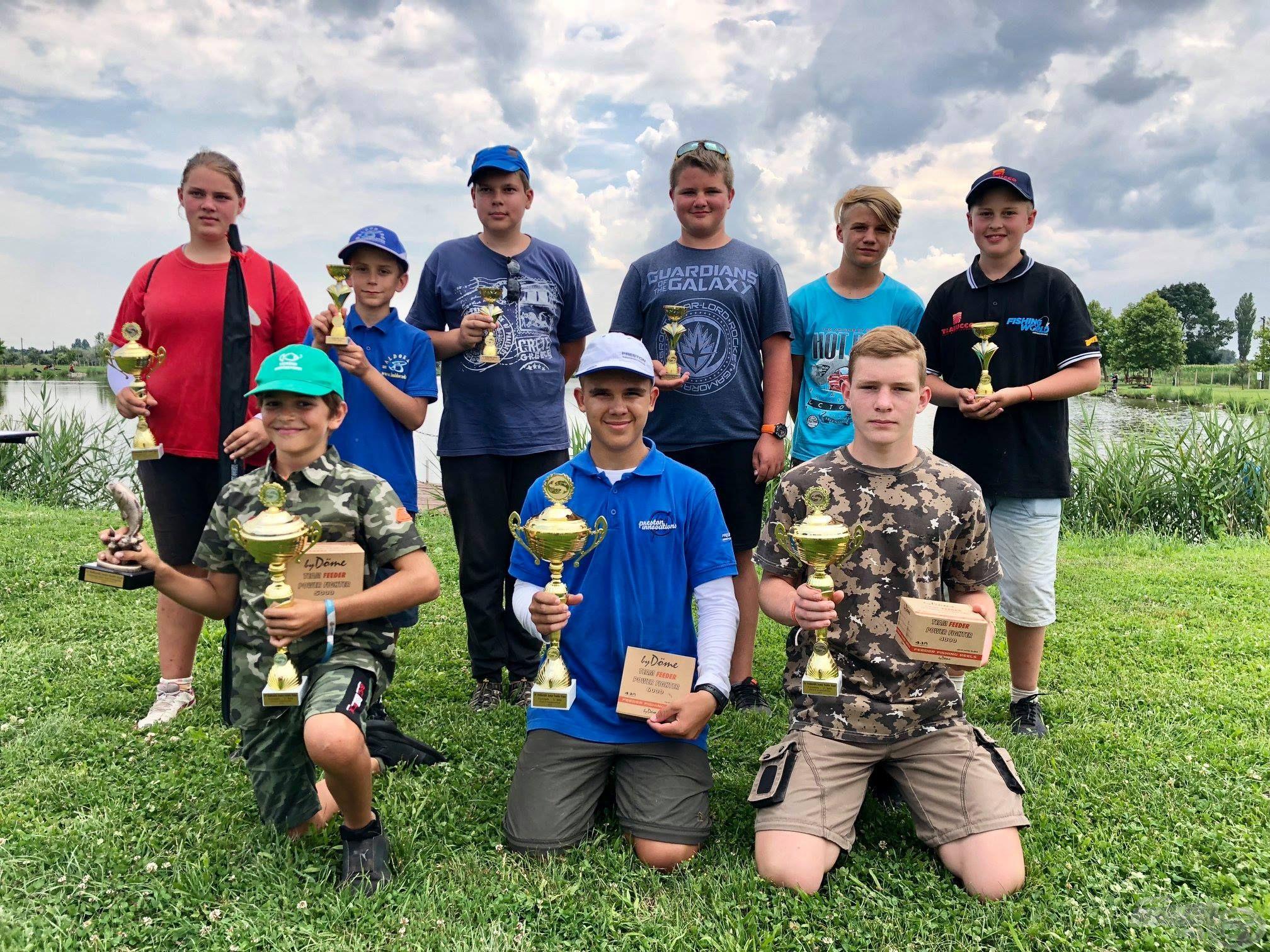 A IV. Haldorádó Junior Feeder Kupa gyermek kategória győztesei