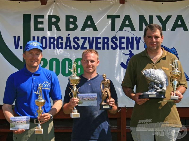 A fenekező kategória győztesei
