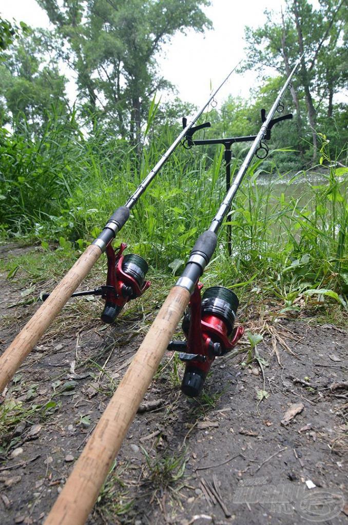 A Team Feeder Master River botokra Master Carp 5500 LCS orsók, azok dobjára pedig 19-es fonott zsinór került