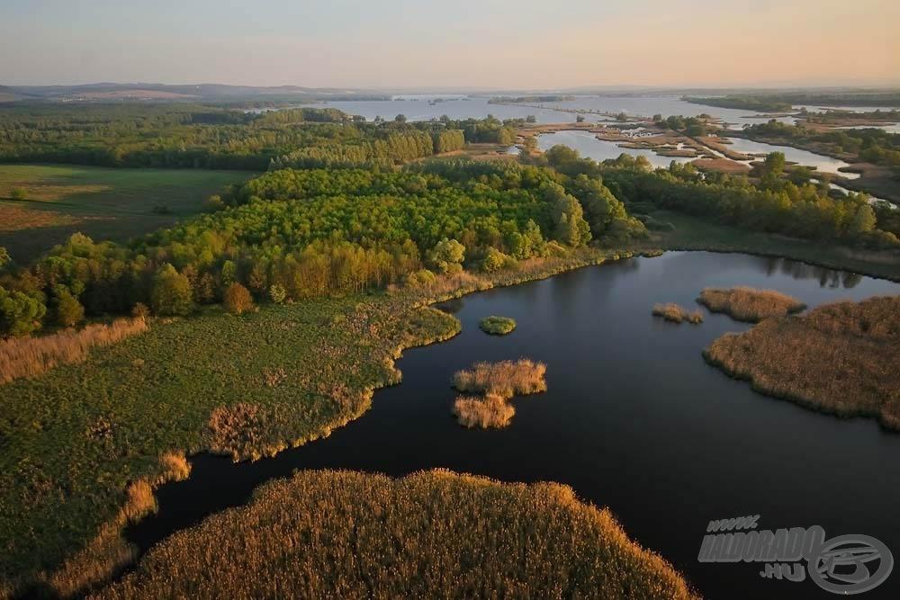 51 km<sup>2</sup> a teljes vízterület…