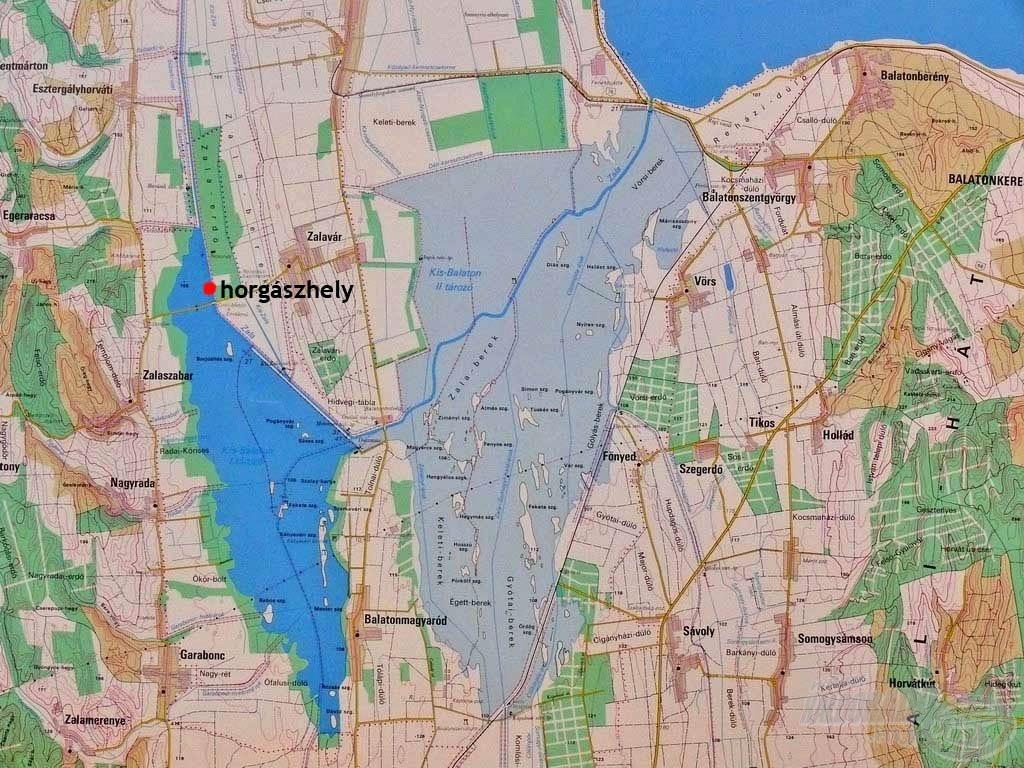 térkép kis balaton Írás   Vadvízi kalandok 5. rész   A Kis Balaton nyurgapontyai  térkép kis balaton