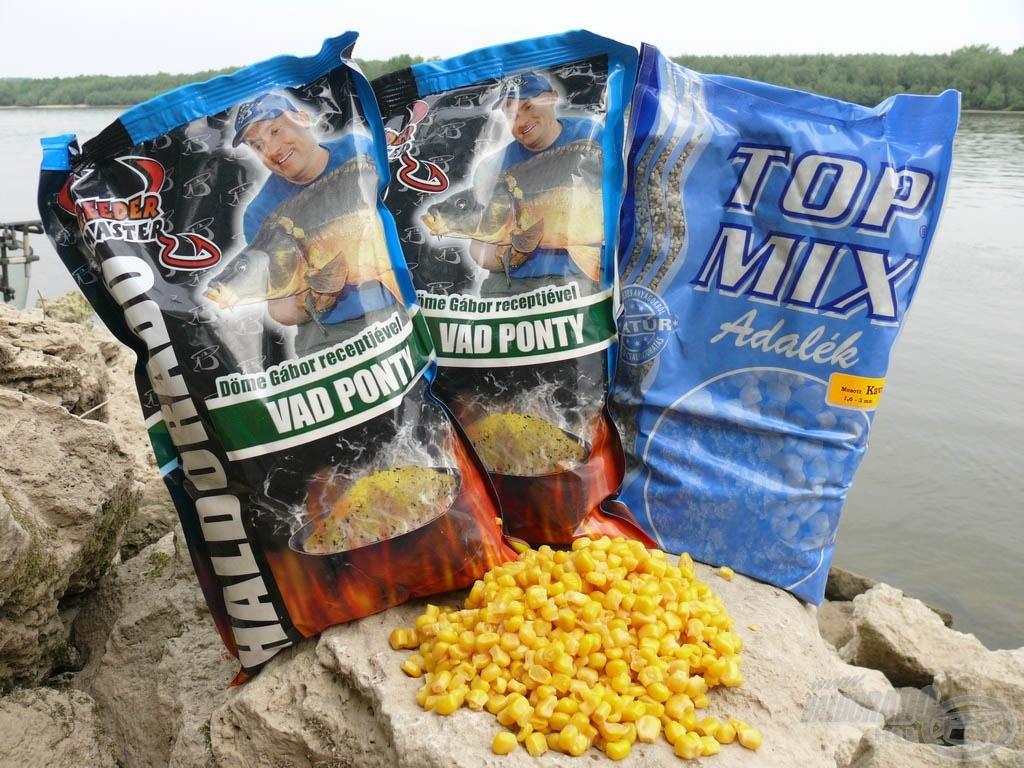 A Vad Ponty etetőanyag a dunai pontyoknak is ízlett