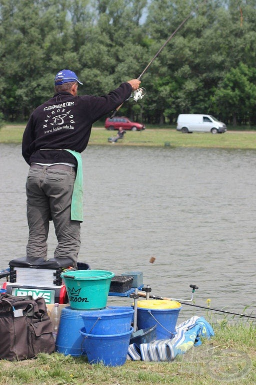 Sipos Gábor mindkét fordulóban eredményesen alkalmazta a partszéli horgászatot