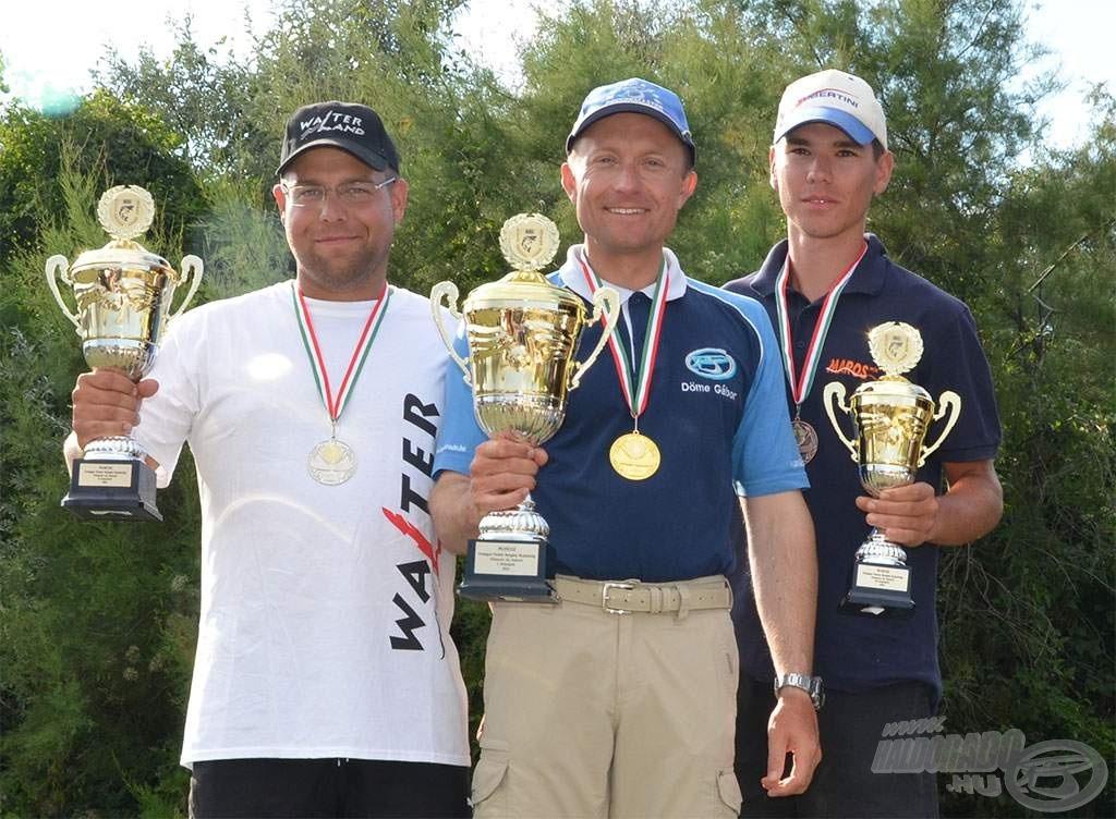 … majd jött az Országos Egyéni Horgászbajnokság, ahol Döme Gábor lett a MAGYAR BAJNOK!