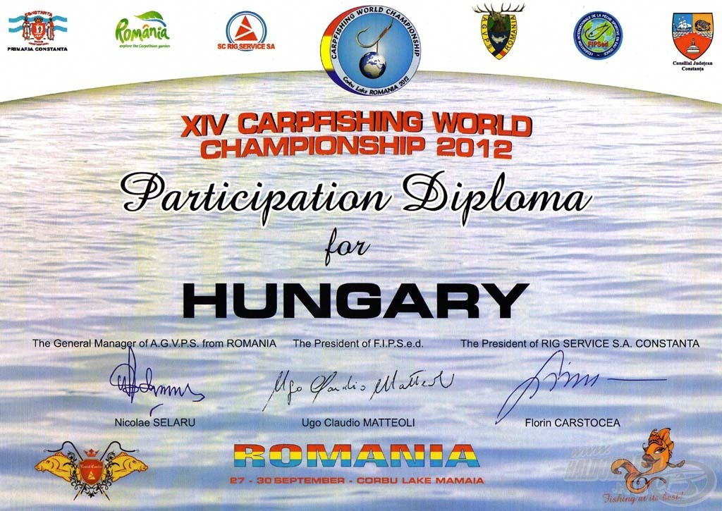 És végül, de nem utolsósorban: a Részvételi Diploma
