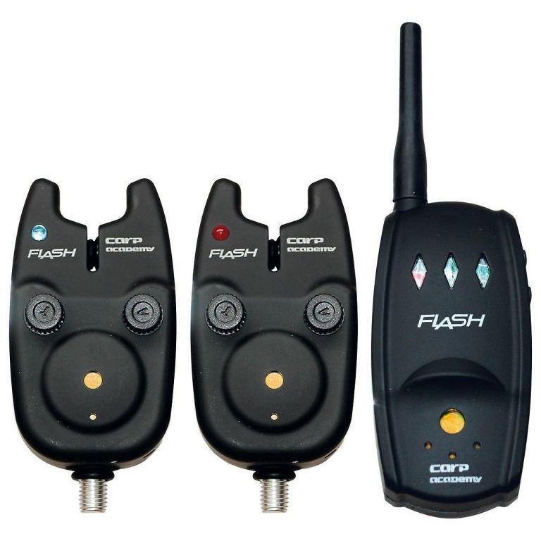 CARP ACADEMY Flash Elektromos kapásjelző készlet 2+1 darabos