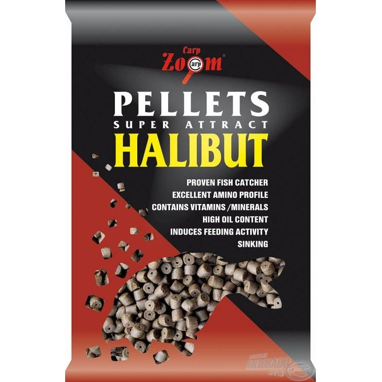 CARP ZOOM Halibut pellet fúrt, 20 mm, 800 g