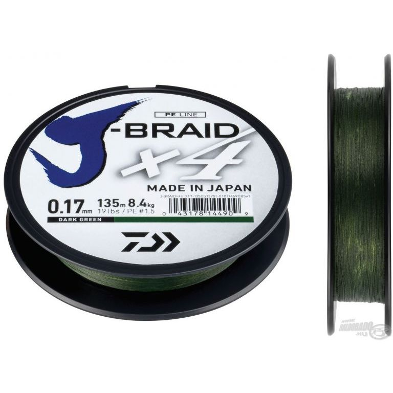 DAIWA J-Braid X4E 0,17 mm 135 m
