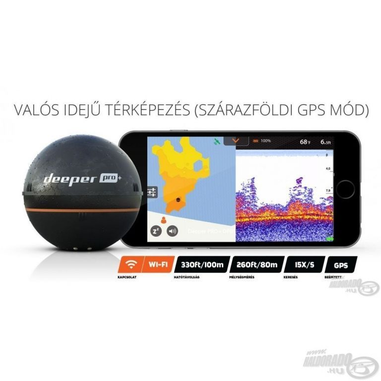 DEEPER Pro+ Wifi+GPS halradar