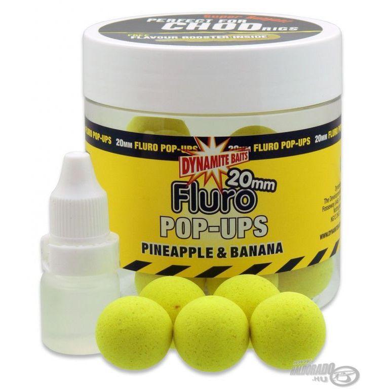 Dynamite Baits Fluro Pop Up bojli Pineapple & Banana 20 mm
