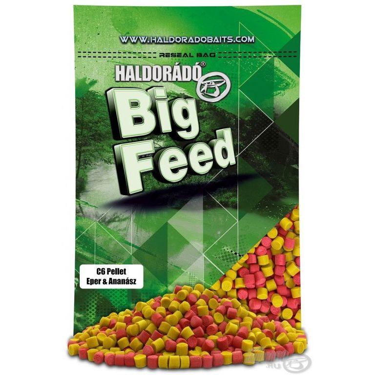 HALDORÁDÓ Big Feed - C6 Pellet - Eper & Ananász 800 g