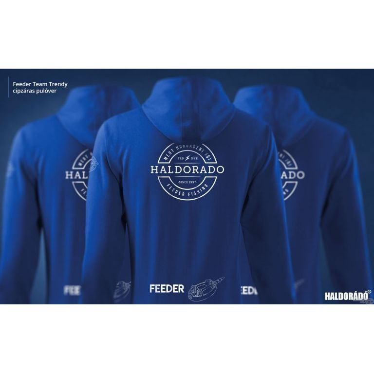 HALDORÁDÓ Feeder Team Trendy cipzáras pulóver M