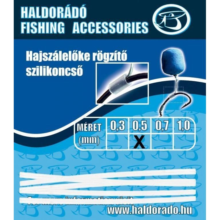 HALDORÁDÓ Hajszálelőke rögzítő szilikoncső 0,5 mm