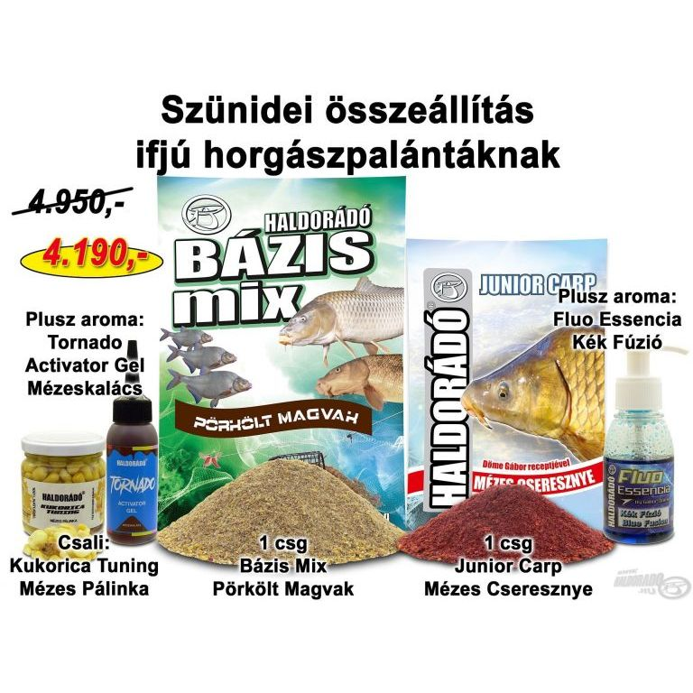 HALDORÁDÓ Nyári recept 3 - Szünidei összeállítás ifjú horgászpalántáknak