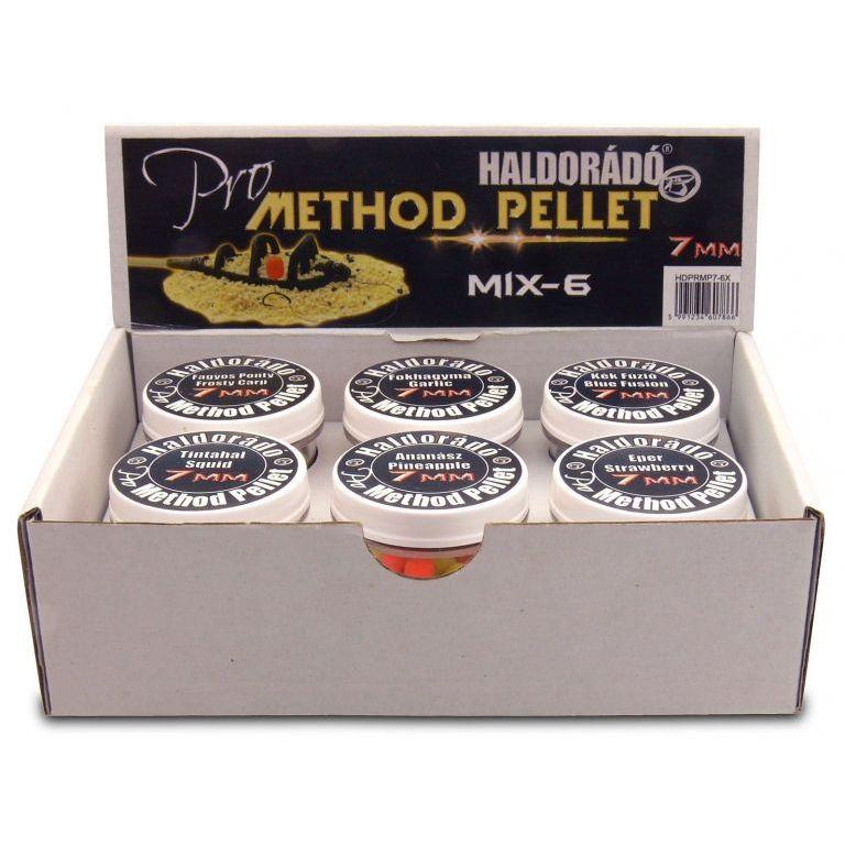 HALDORÁDÓ Pro Method Pellet 7 mm - MIX-6 /  6 íz egy dobozban