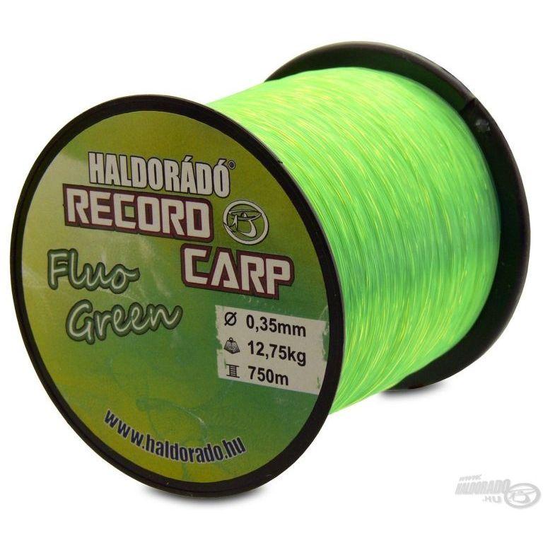 HALDORÁDÓ Record Carp Fluo Green 0,35 mm / 750 m