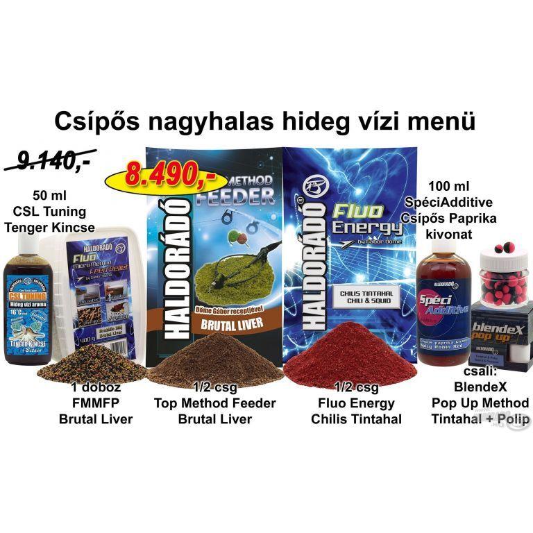 HALDORÁDÓ Téli recept 10 - Csípős nagyhalas hideg vízi menü