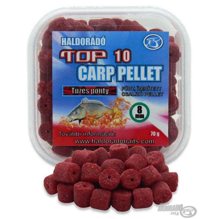 HALDORÁDÓ TOP 10 Carp Pellet - Tüzes Ponty
