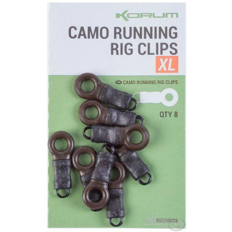 KORUM Feeder végszerelék - Camo XL Running Rig Clips
