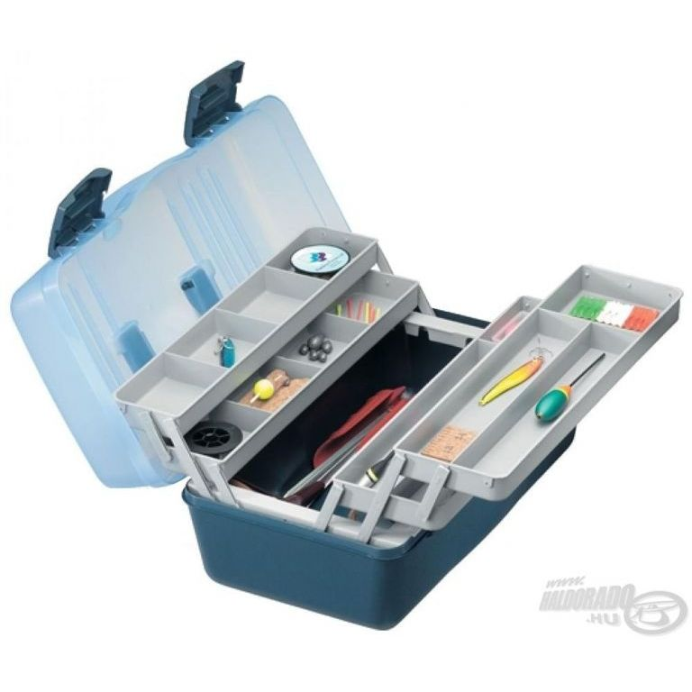 PANARO Szerelékes doboz 4 tálcás - kék