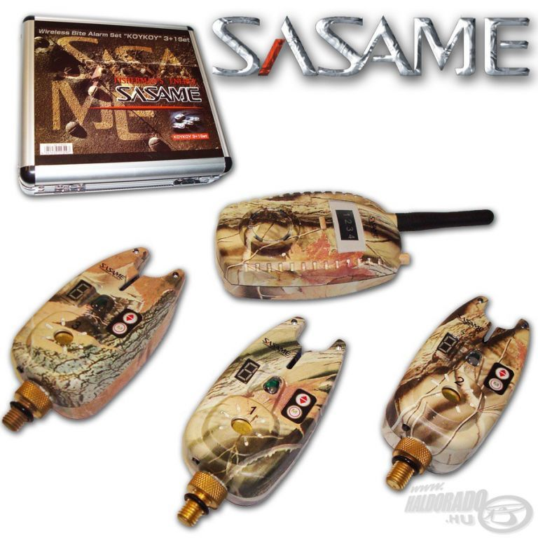 SASAME F-600 Elektromos kapásjelző szett 3+1 darabos