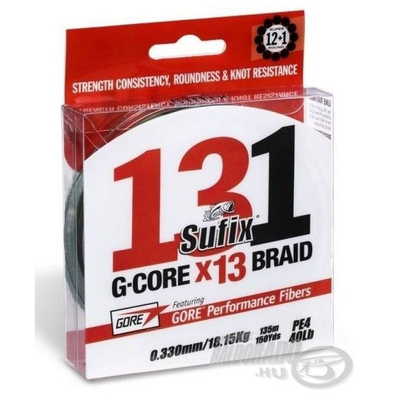 SUFIX 131 G-Core X13 Braid Green 150 m - 0,148 mm