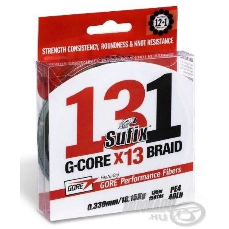 SUFIX 131 G-Core X13 Braid Green 150 m - 0,185 mm