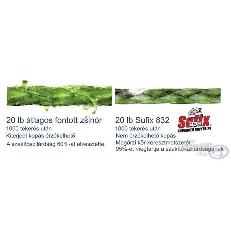SUFIX 832 Braided zöld 120 m 0,20 mm